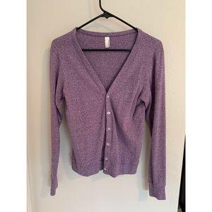 Purple heather sweater